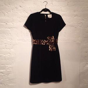 ***Kate Spade sample black leopardbeltdress-Size 4